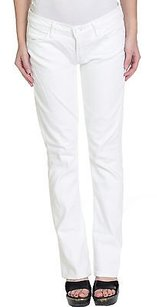 Mother 27 White The Straight Leg Jeans