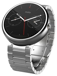 Motorola Motorola Moto 360 - Light Metal, 23mm, Smart Watch