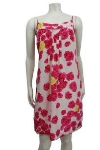 Moulinette Soeurs short dress Beige pink Yellow Atypical Situation By Anthropologie on Tradesy