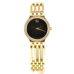 Movado Ladies Classic Movado Model 84.25.811.sp With Diamond Bezel