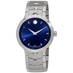Movado Luno Blue Soleil Dial Men's Watch MV0607042