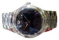 Movado Mens Movado Classic Ref. 84 P2 1890 Automatic Stainless Steel Black Face Watch