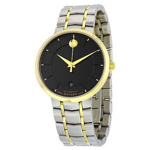 Movado Movado 1881 Black Dial Two-tone Stainless Steel Mens Watch
