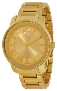 Movado MOVADO Bold Champagne Dial Yellow Gold IP Steel Unisex Watch MV3600197