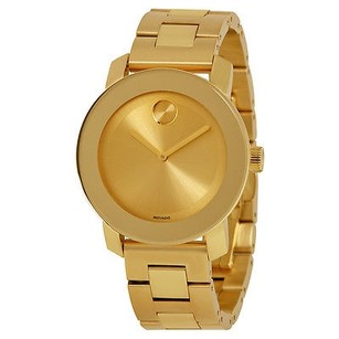 Movado Movado Bold Champagne Dial Yellow Gold Stainless Steel Watch