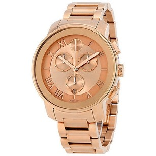 Movado Movado Bold Chronograph Rose Dial Rose Gold Ion-plated Ladies Watch