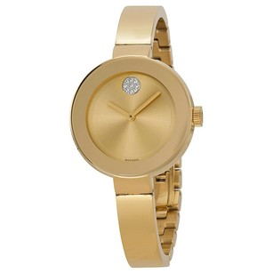 Movado Movado Bold Dial Gold Ion-plated Ladies Watch