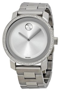 Movado MOVADO Bold Diamond Silver Dial Stainless Steel Ladies Watch MV3600149