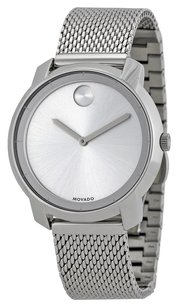 Movado MOVADO Bold Silver Dial Stainless Steel Mesh Ladies Watch MV3600241