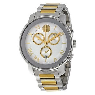Movado Movado Bold Silver Dial Two-tone Mens Quartz Watch