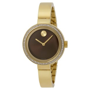 Movado Movado Bold Yellow Gold Ion-plated Ladies Watch
