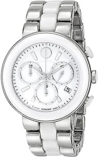 Movado Movado Cerena White Ceramic Chronograph Ladies Watch 0606758