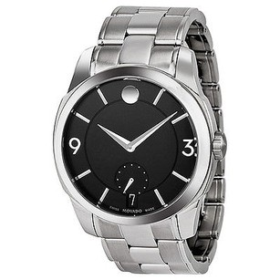 Movado Movado Lx Black Dial Stainless Steel Mens Watch