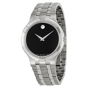 Movado Movado Metio Black Dial Stainless Steel Mens Watch