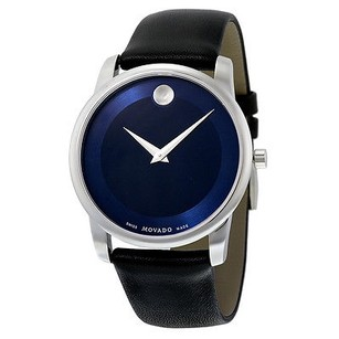 Movado Movado Museum Blue Dial Stainless Steel Mens Watch
