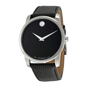 Movado Movado Museum Classic Black Dial Leather Mens Watch