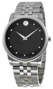 Movado MOVADO Museum Classic Black Dial Stainless Steel Men's Watch MV0606878
