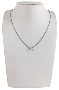 Movado Movado Round Brilliant Diamond Solitaire Pendant Necklace .33ct 16
