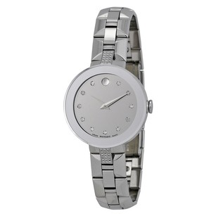 Movado Movado Sapphire Silver Diamond Dial Ladies Watch