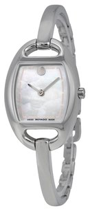 Movado Museum Mother of Pearl Dial Stainless Steel Bangle Ladies Watch