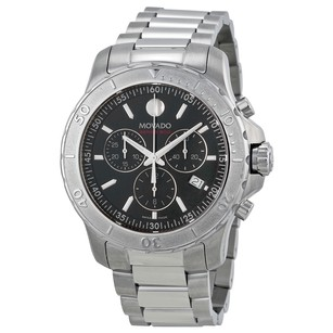 Movado Series 800 Chronograph Black Dial Stainless Steel Men's Watch