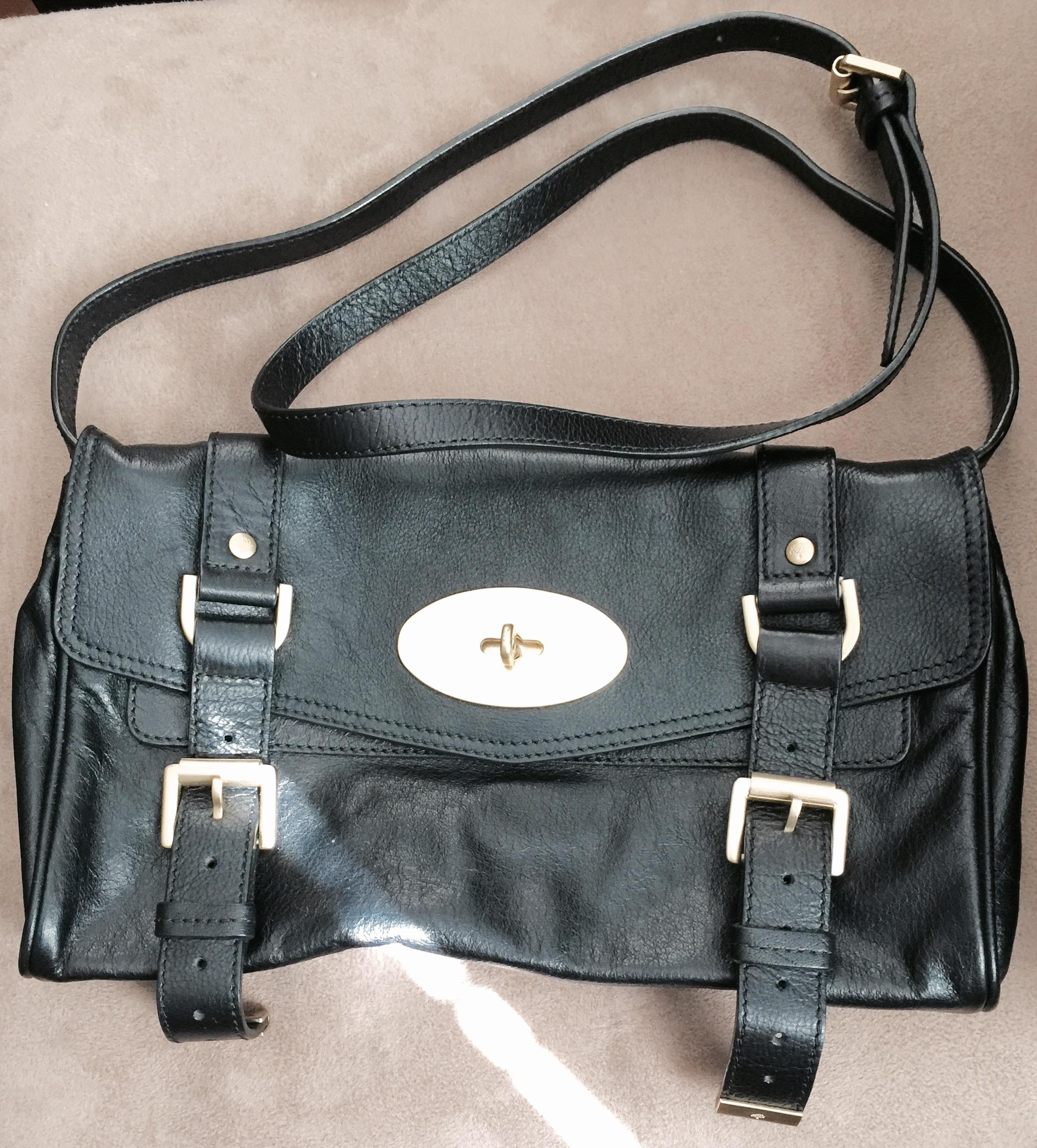 adae6cafc1 ... where to buy mulberry alexa clutch black leather cross body bag tradesy  0f079 f8da3