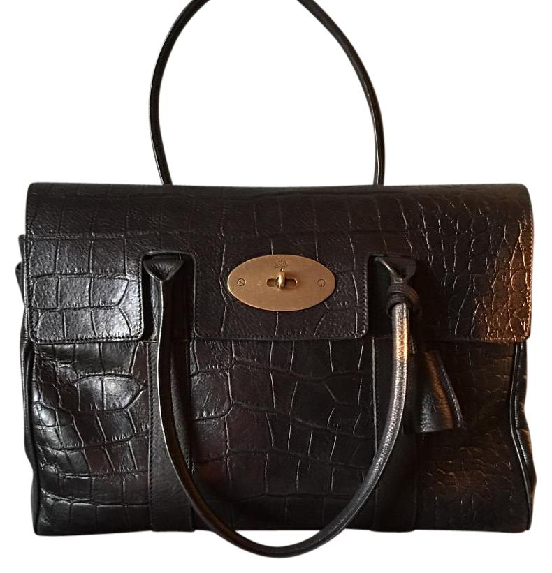 4ca7c1a619 ... bayswater in black croc print leather shoulder bcf2e 13dc6; new zealand  mulberry satchel in black 800e0 feacf