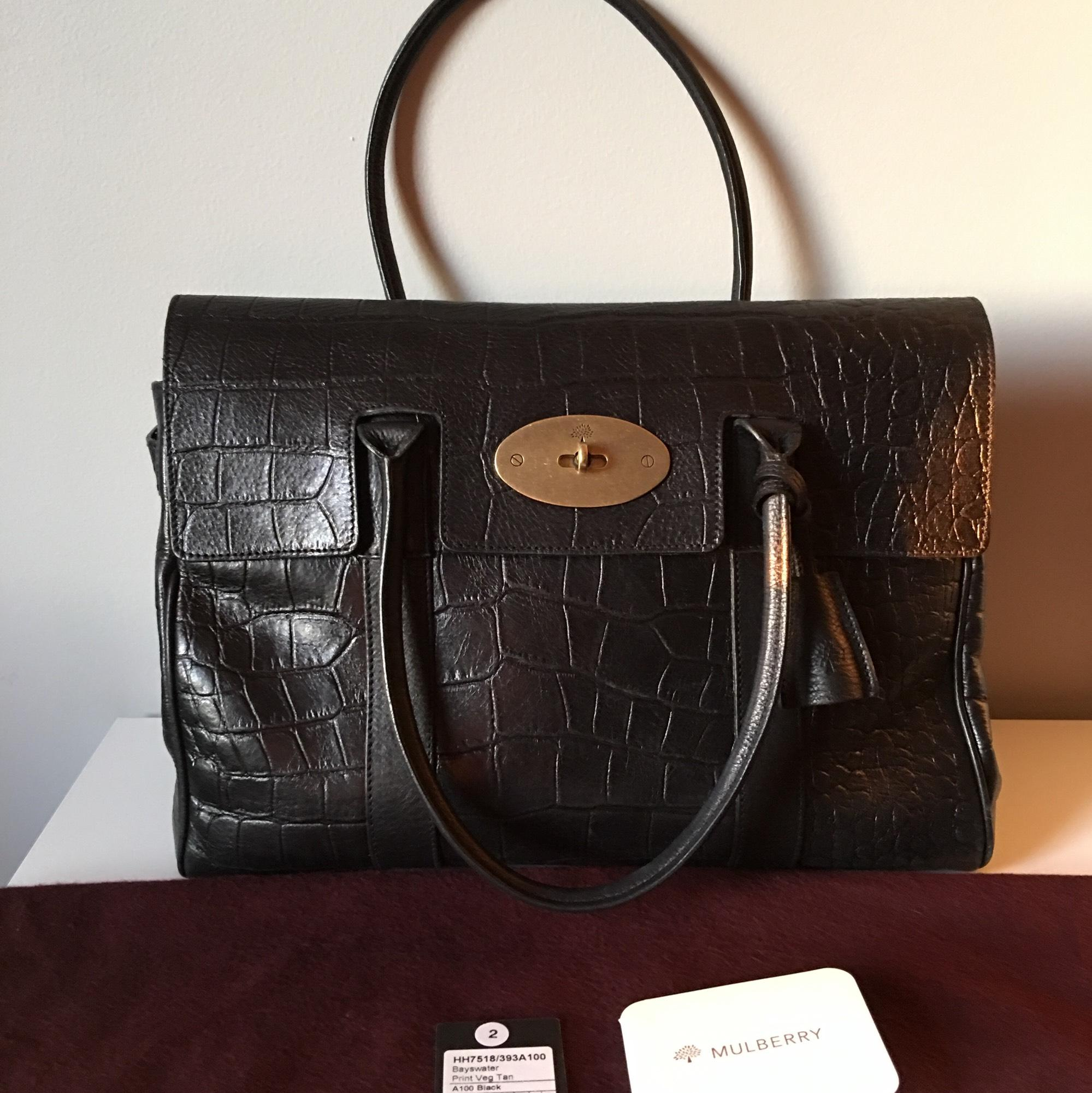 128bd73a60 ... canada mulberry bayswater print black a natural looking vegetable  tanned leather with a croc emboss which