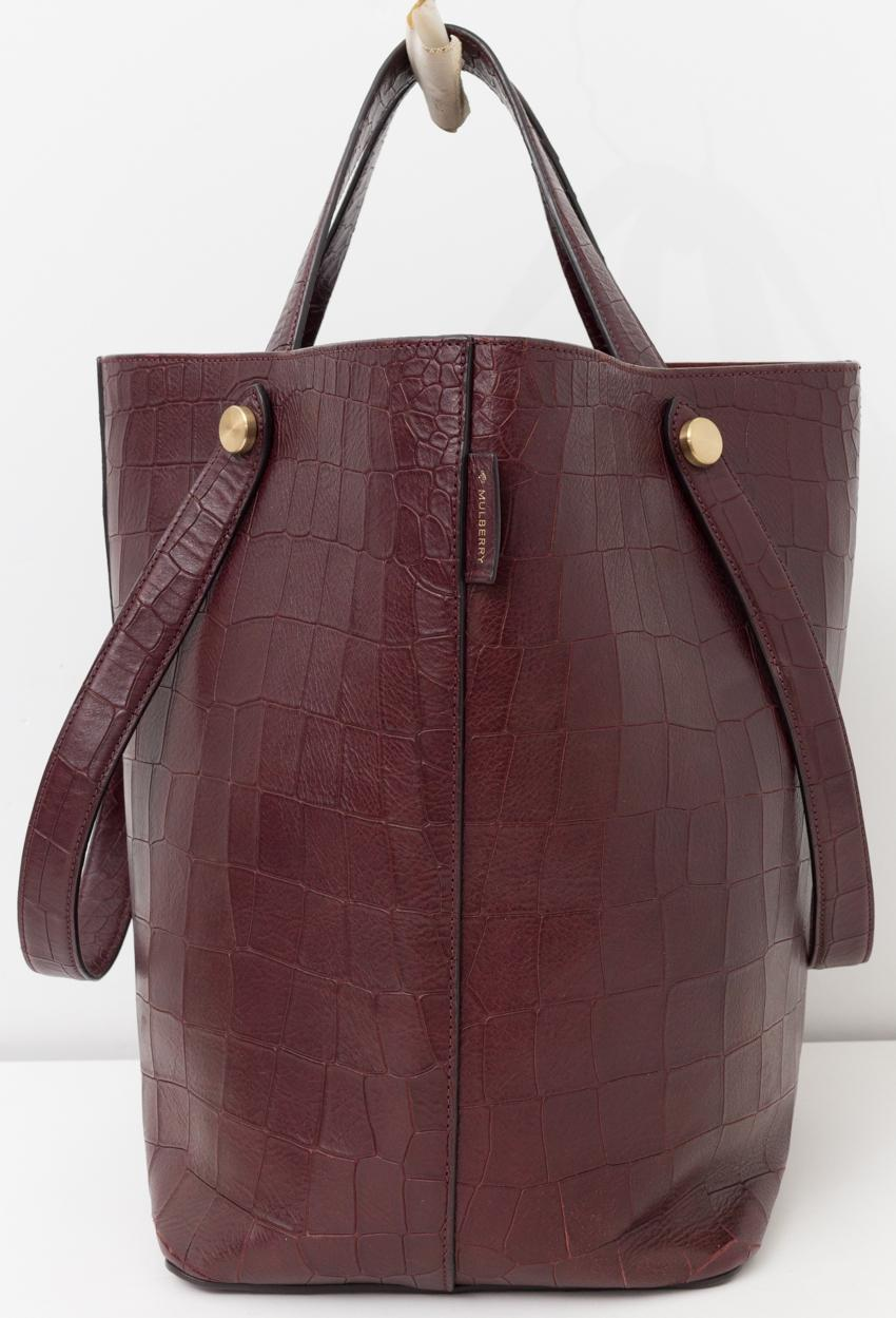 ... promo code for mulberry 2016 in oxblood crocodile embossed red leather  tote tradesy 9e530 3b47b 218b4eefde31e