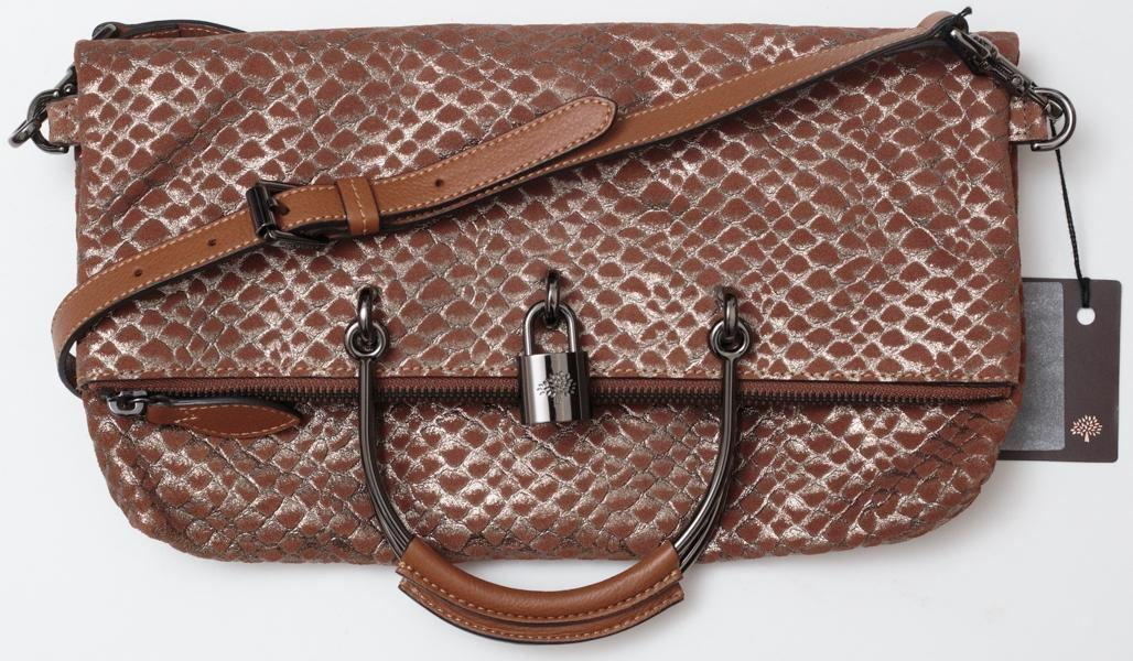 ... new style mulberry hetty clutch handbag metallic snake dusty pink brown  suede shoulder bag tradesy ba1bc 9d7ac597f01c0