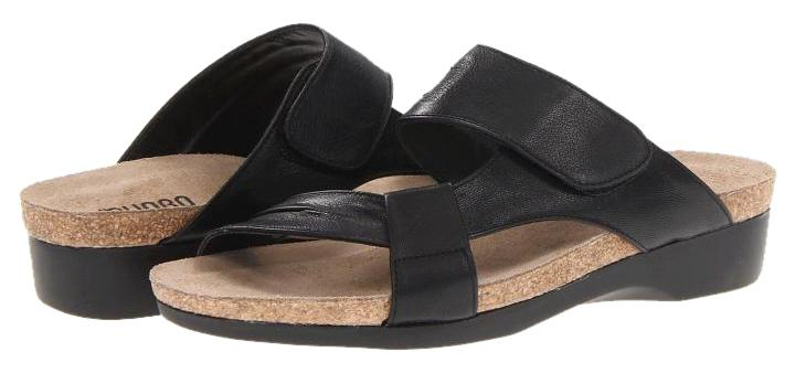 Munro American Made In Usa Black Sandals ...