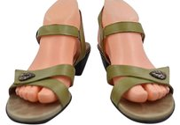 Munro American Womens Strappy Green Sandals