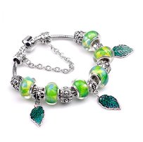 Murano Luxury Silver Plated Austrian Glass Beaded Bracelet $1140