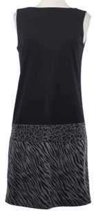 Muse Womens Sheath Animal Above Knee Sleeveless Dress