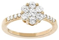 1.00CT DIAMOND 14K ROSE GOLD FLOWER RING SIZE 5-8