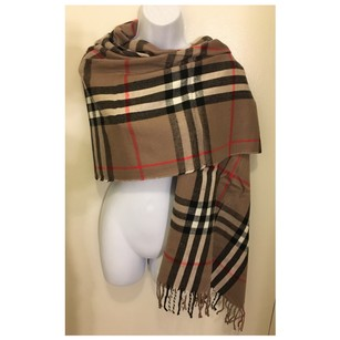 Other Tan/Black/Red Check Oversize Wrap