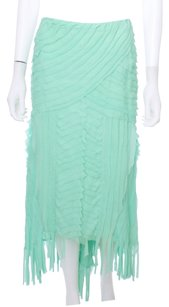 Naeem Khan Hi Lo Silk Couture Skirt Mint