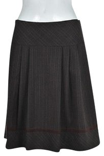 Nanette Lepore Womens Brown Textured Wool Casual Skirt Multi-Color