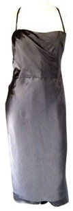 Nanette Lepore Silver Silk Convertible Sleeveless Hs1597 Dress
