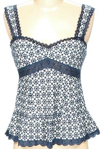 Nanette Lepore Eyelet Lace Sleeveless Floral Top