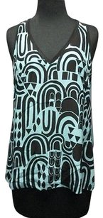 Nanette Lepore Turquoise Top turquoise, black