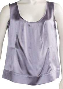 Narciso Rodriguez Lavender 100 Silk Sleeveless Scoop Neck Hs2459 Top Purple