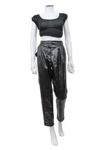 Nasty Gal Faux Leather Pleated Pants