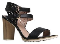 Nature Breeze Black Sandals