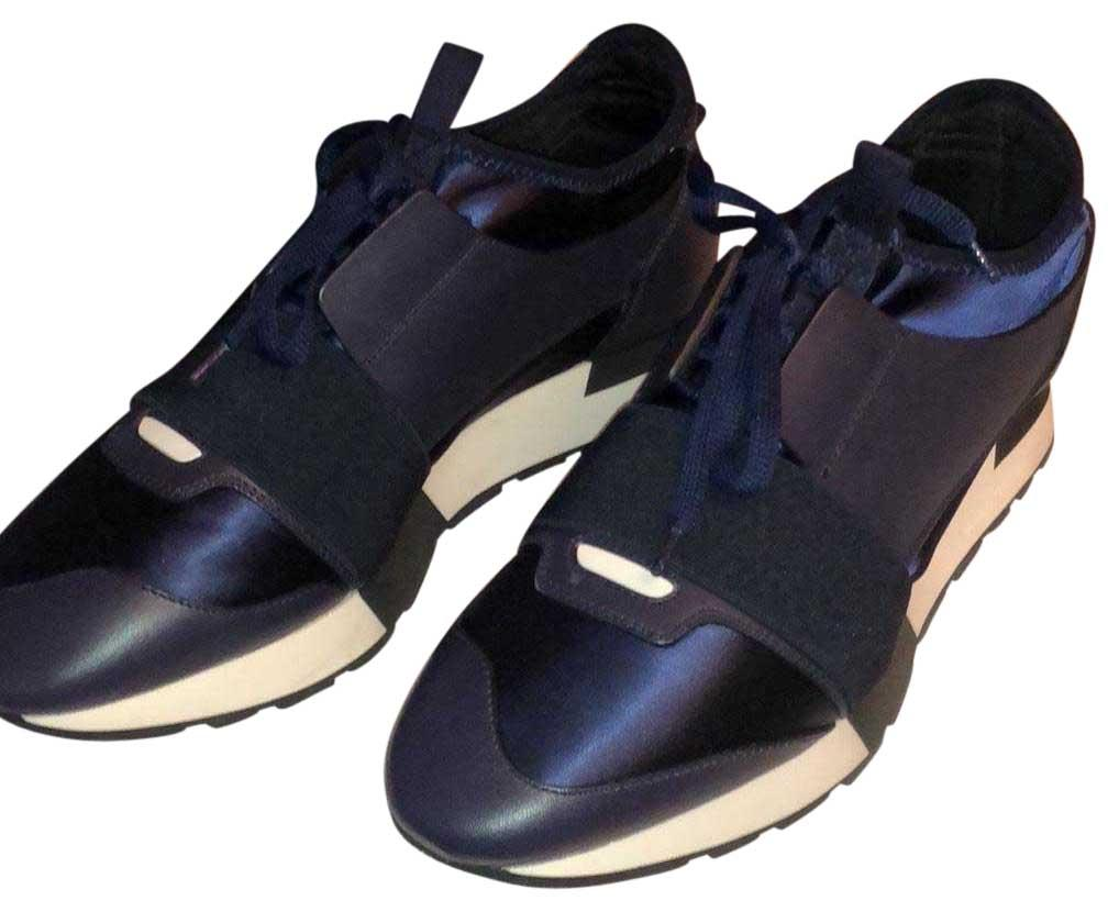 Navy Blue 500587 W07e1 Sneakers Size US 9 Regular (M, B)