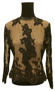 Neiman Marcus Helmut Lang Theory Top Black Nude