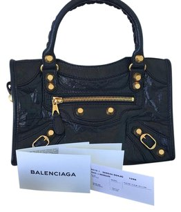 New Giant Gold Balenciaga mini city crossbody bag Cross Body Bag