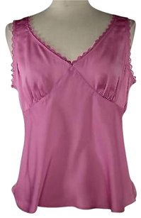 New York & Company Co Womens Solid Top Pink