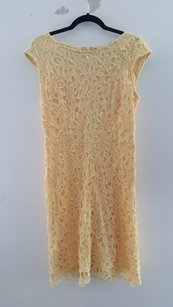Crochet Lace Yellow Dress