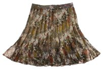 Nicole Miller Pleated Floral Mini Skirt